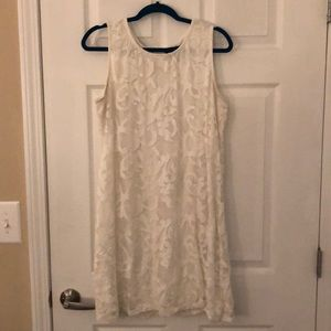 Ronnie Nicole White Lace Dress